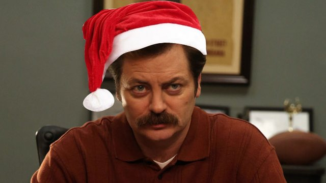 Watch Ron Swanson Drink Scotch By A Fire For 45 Silent Minutes ...