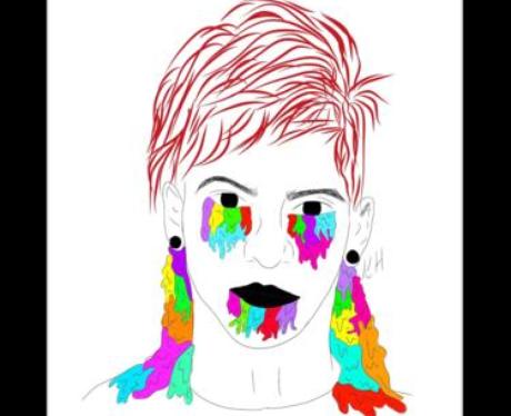 Josh Dun Drawing Sticker